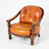 Valenti Repro Rust Leather Armchair