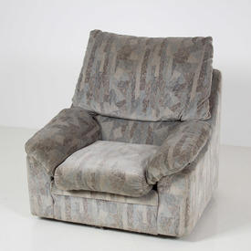 Light Grey/Blue Mosaic Patten Arm Chair Or Recliner