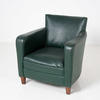 Bottle Green Vinyl Wood Leg Tub Chair
