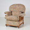 Rob Cream Pattern / Lt Oak Armchair