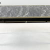 50's Black/Gilt Black Mottle Top Rect 1 Drawer Coffee Table