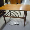 2' Teak Rectangular G Plan  Coffee Table With Mag Rack  (50s)
