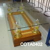 Rectangular Cherrywood/Brass & Glass  'rafta'  Coffee Table