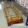 Rectangular Cherrywood/Brass & Glass  'rafta'  Coffee Table