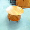 Circular 2 Tier Teak Tapered Leg Occ Table