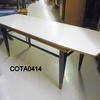 50's Pale Grey Formica Rec Black Leg Boat Shape Coffee Table