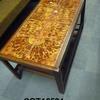 Rec Teak Orange/Yellow Pattern 8 Tile Top Coffee Table With  Undershelf