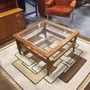 74 Cm Square Teak G Plan With Glass Inset Top Coffee Table