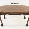 Oval Dark Oak Ball & Claw Leg Coffee Table