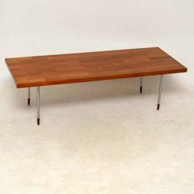 Fristho Rect Brick Pattern Oak With Chrome Leg Coffee Table