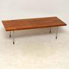 Fristho Rect Brick Pattern Oak With Chrome Leg Coffee Table