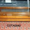 88 Cm X 44 Cm Teak 2 Tier Coffee Table  Glass Top Lip Edges