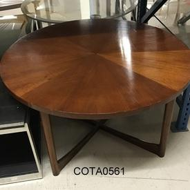 Circ Walnut Parquet Top Macintosh Crossed Base Coffee Table