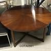 Circ Walnut Parquet Top Macintosh Crossed Base Coffee Table