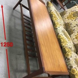 125cm X 44cm Teak Lip Ended Rec Mpf Under Rack Coffee Table
