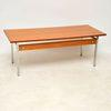 Vintage Rect Teak With Chrome Legs Coffee Table