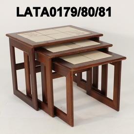 "17"" Mayers Sapele Tiled Nest Table"