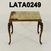 30 X 40 Lg Green Onyx & Brass Nest Table