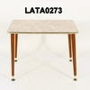 Cream Marble Effect Formica Lg Nest Table