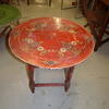 Circ Hand Painted Red Spanish Occ Table