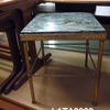 35cm Small Brass & Green Marble Square Lamp Table