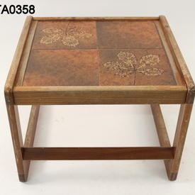 70'S Teak 4 Tiled Top Low Lamp Table  (50S)