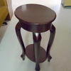 Oval Top Repro Mahogany 2 Tier Cabriole Leg Occasional Table
