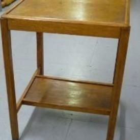 50'S Oak Utility  Lamp Table with Small Undershelf