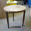 Oak Utility Small Circular 3 Leg Occasional  Table