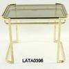 Flat Gauge Brass & Glass 'waking' Sm Rec Lamp Table 54cmx40cmx41cm