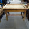 Worn Oak Butler's Occ Table With Lift Off Tray