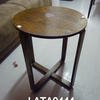 Oak Utility Small Cross Base Circular 2' Occasional  Table