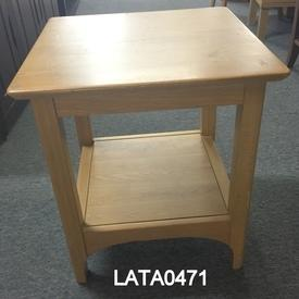 Polished Oak Promo 50Cm Square 2 Tier Lamp  Table