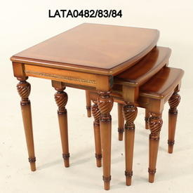 30Cm X 32Cm Honey Vaneer infanta Small Nest Table