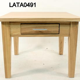 61Cm Square Classic Ash 2 Drawer Lamp Table