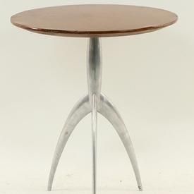 Circular Cherry Top Cast Ali Tripod Base Lamp Table