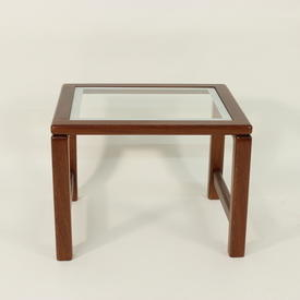 43Cmx43Cm Amber French Cherrywood & White Edge inset Class Small Nest Table