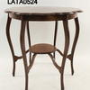 Circular Polished Piecrust Top 2 Tier 6 Leg Occ Table