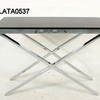 Zara Thick Chrome X Base Black Glass 60 X60 End Table