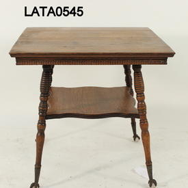 Mahogany Carved 2 Tier Turned Leg Ball & Claw Feet Side