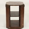 Period Oak 3 Tier Octagonal Lamp Table With Cut Corners