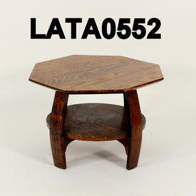 Octagonal Lamp Table with Circular Shelf 56Cm (Across) X41Cm