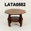 Octagonal Lamp Table With Circular Shelf 56cm (Across) X41cm