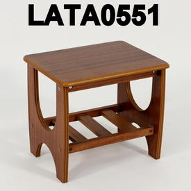 V.Small Teak Lamp Table with Slatted Shelf  (50S)