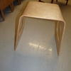 Small Oak Bent Ply Benji Square Cut Out Sides Lamp Table