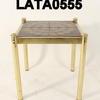 Brown Patt.Tile/Brass Lamp Table