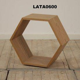Lt Walnut Hexagonal Medium Nest Table