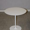 White Ovoid Mkb Dizzie Tulip Base Occasional Table