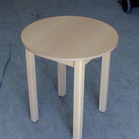 """58Cm 4 Leg Circ Beech """"Will Beck"""" Care Home Table"""
