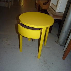 Circ Yellow 1 Drawer Side Table